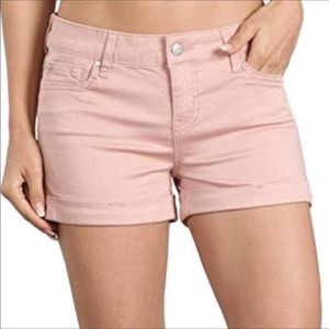 Celebrity Pink Strawberry Cream Rolled Shorts